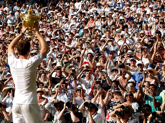 Andy Murray Wimbledon Novak Djokovic'e karsi