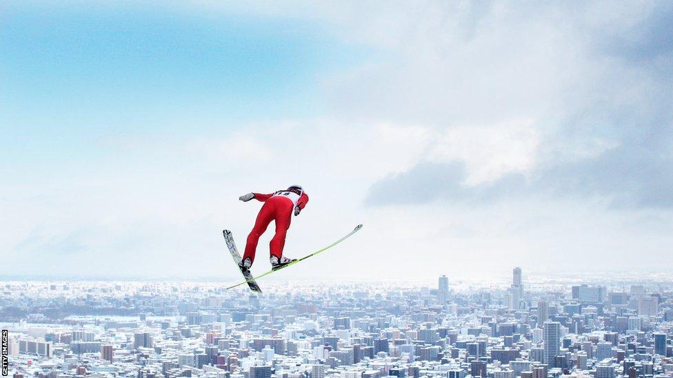 Japonya'lı Kento Sakuyama - skijump - FIS Men's Ski Jumping World Cup at Okurayama Jump Stadium in Sapparo, Japan.