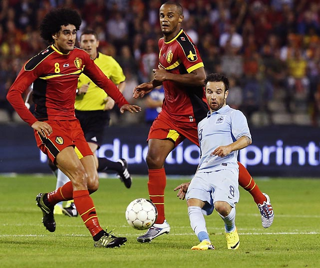 Mathieu Valbuena optical illusion France vs brussels